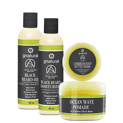 Black Beard Oil, Black Beard Moisturizer, and Ocean Wave Pomade by Alpha Club 4 Men